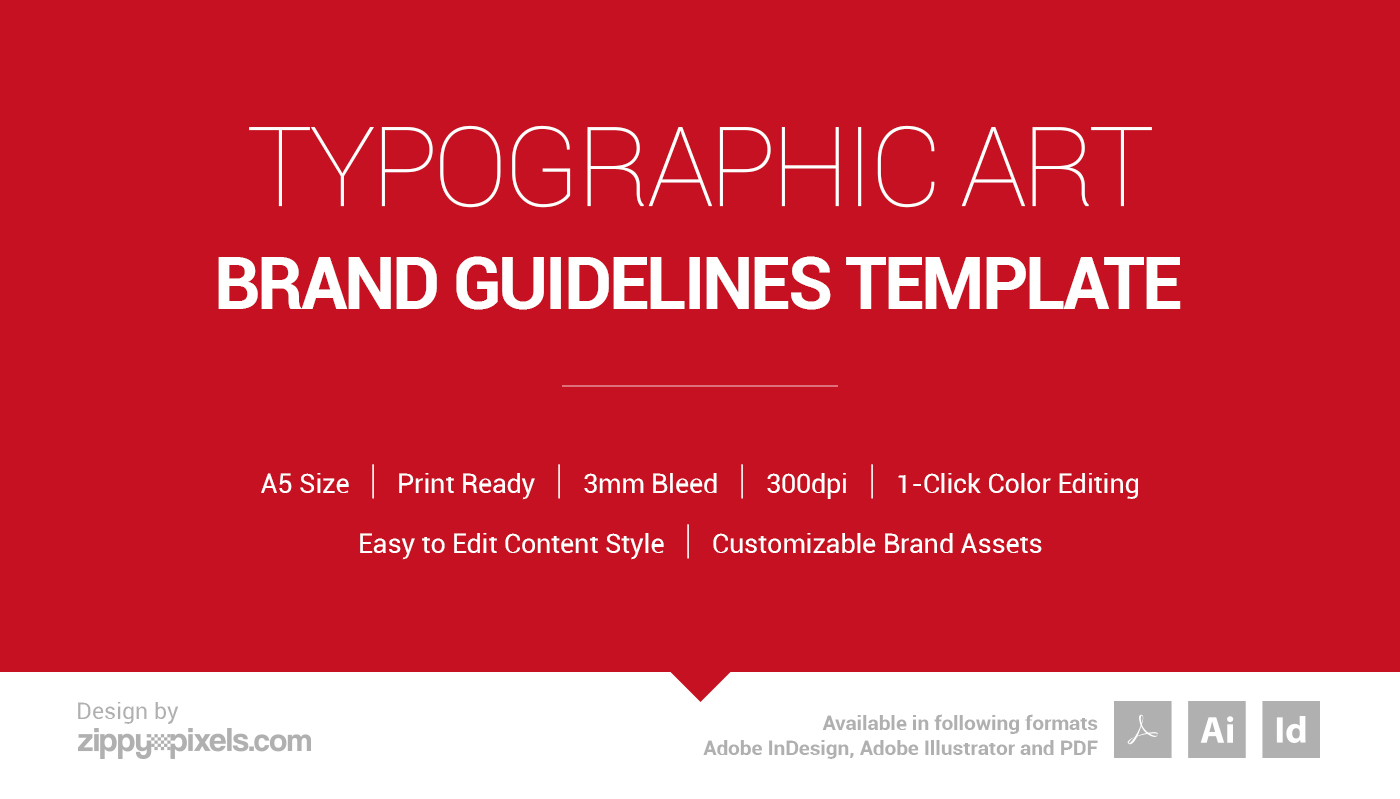 typographic art brand guidelines template on behance
