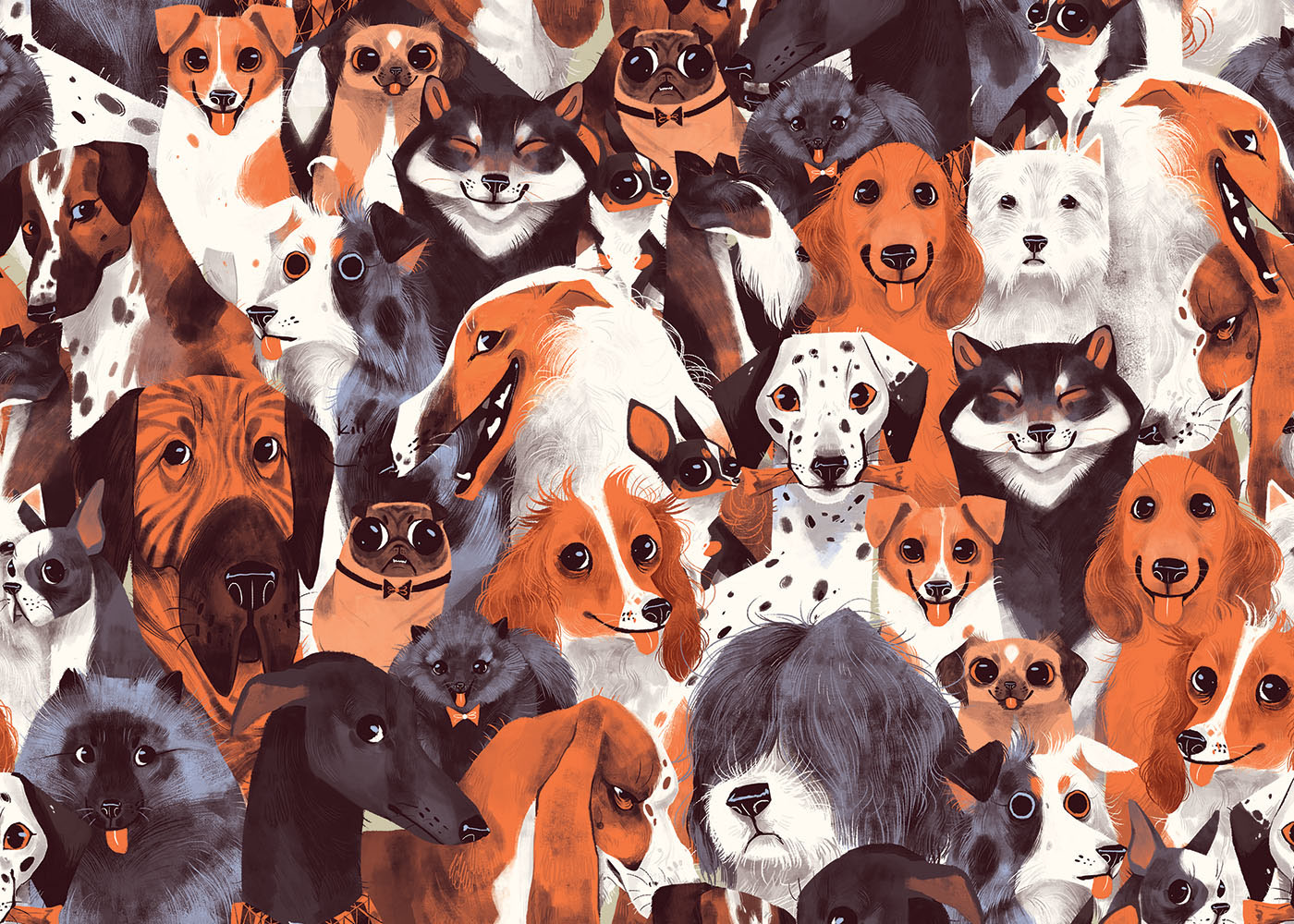 A Pack of Dogs on Behance