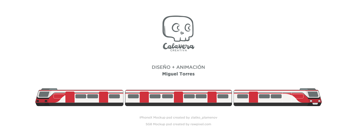train motion graphics  CDMX Transport app bodymovin lottie  mexico UI motion