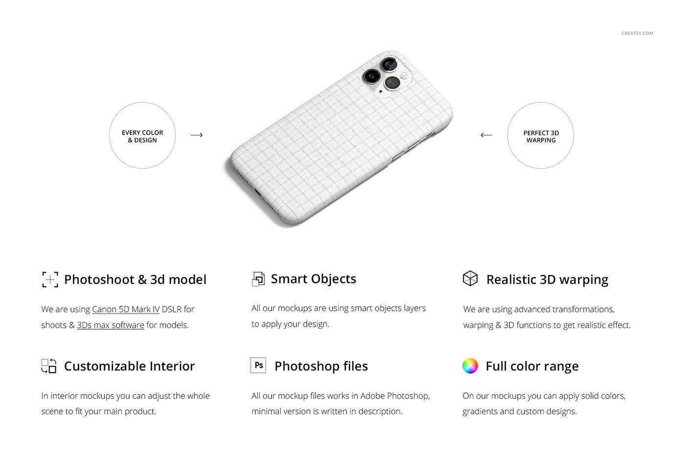 Iphone 11 Pro Matte Snap Case Mockup On Behance