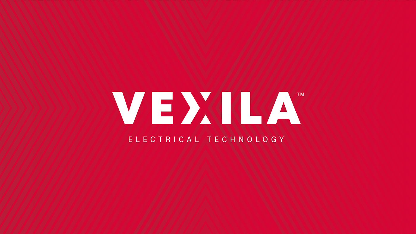 bold electric electrical logo negative space power red Technology triangle wordmark
