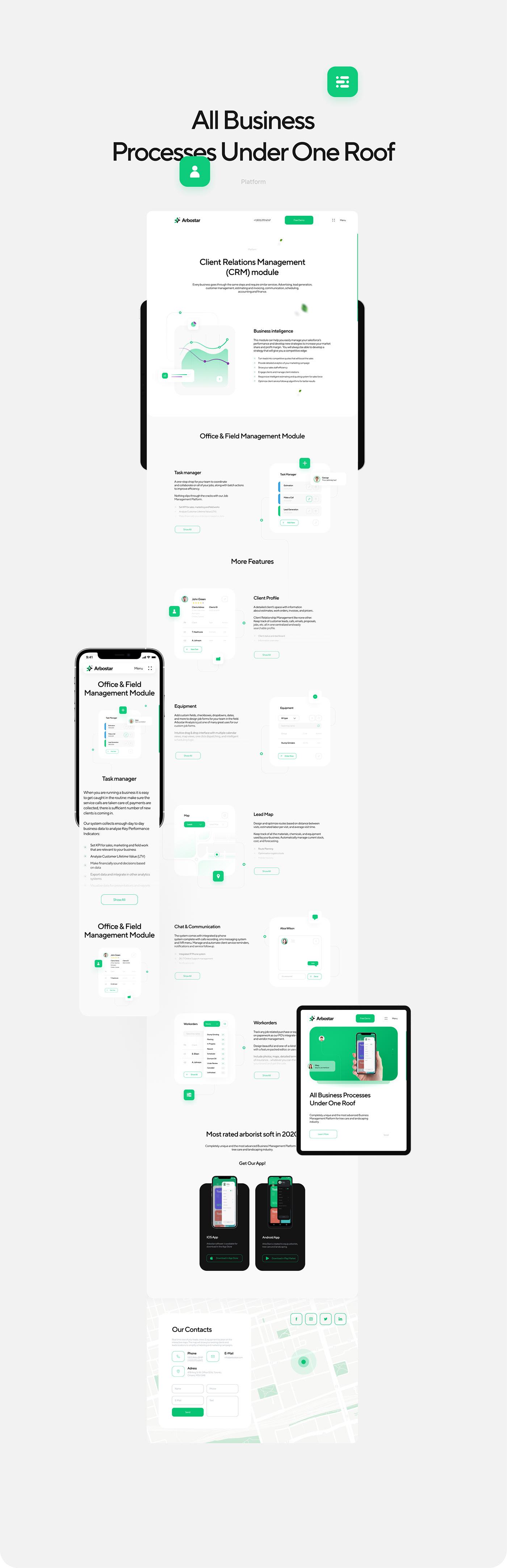 arborist CRM Logotype Platform swiss Tree  typography   UI/UX Website Website Design