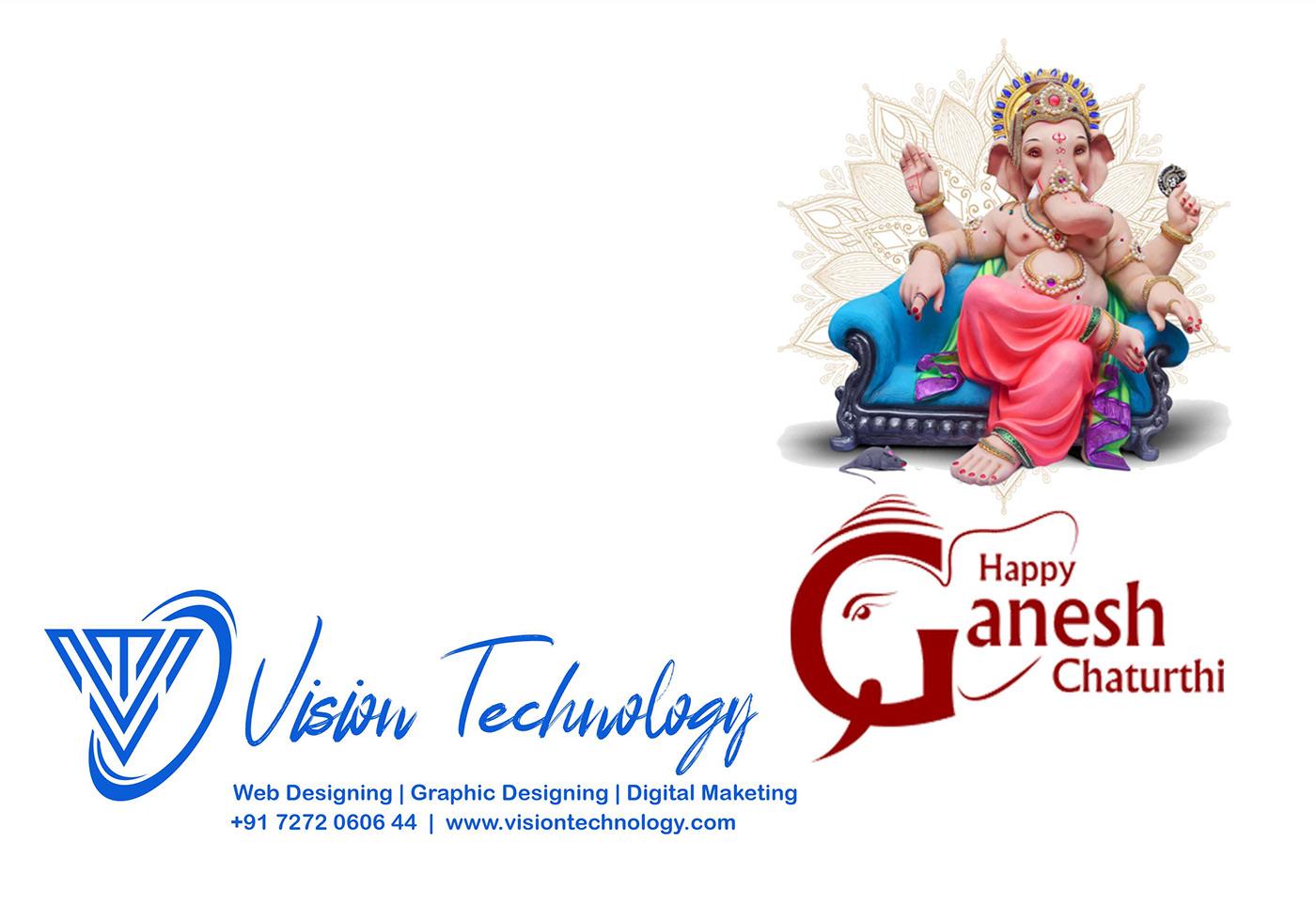 editorial festival flyer ganesh chaturthi identity Layout print typography