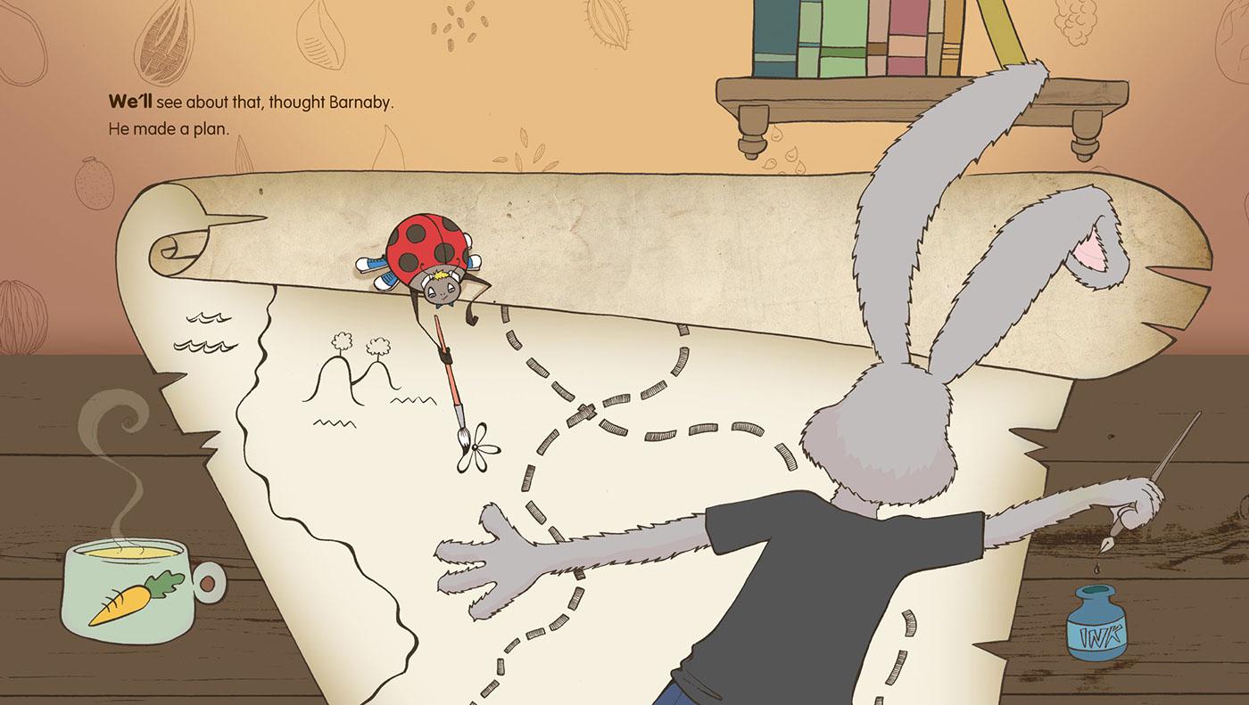 Children's book illustrations Nature graphic design
