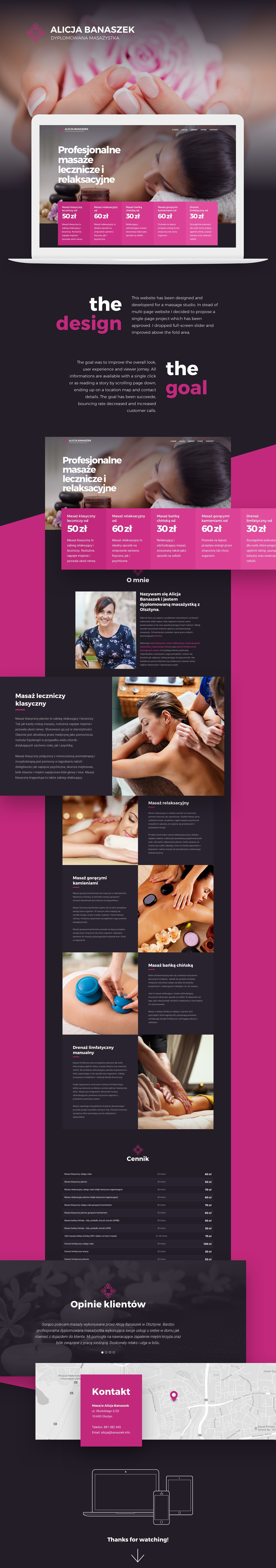 massages masseuse masseur therapist beauty Spa Web Design  ui design UX design product design