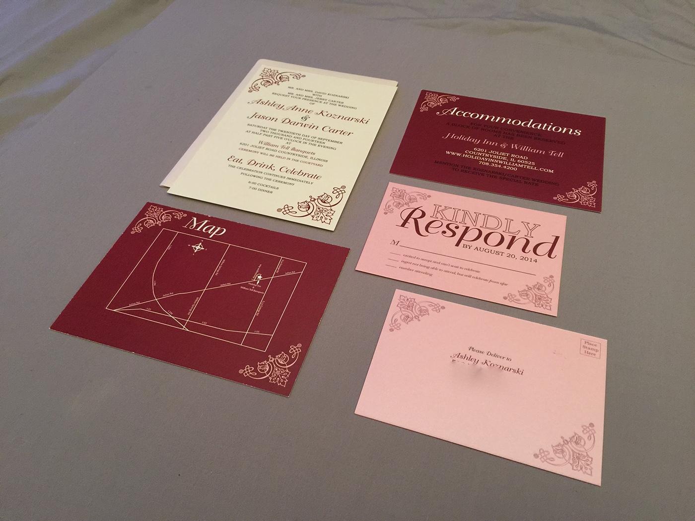Modern Vintage Invitation on Behance