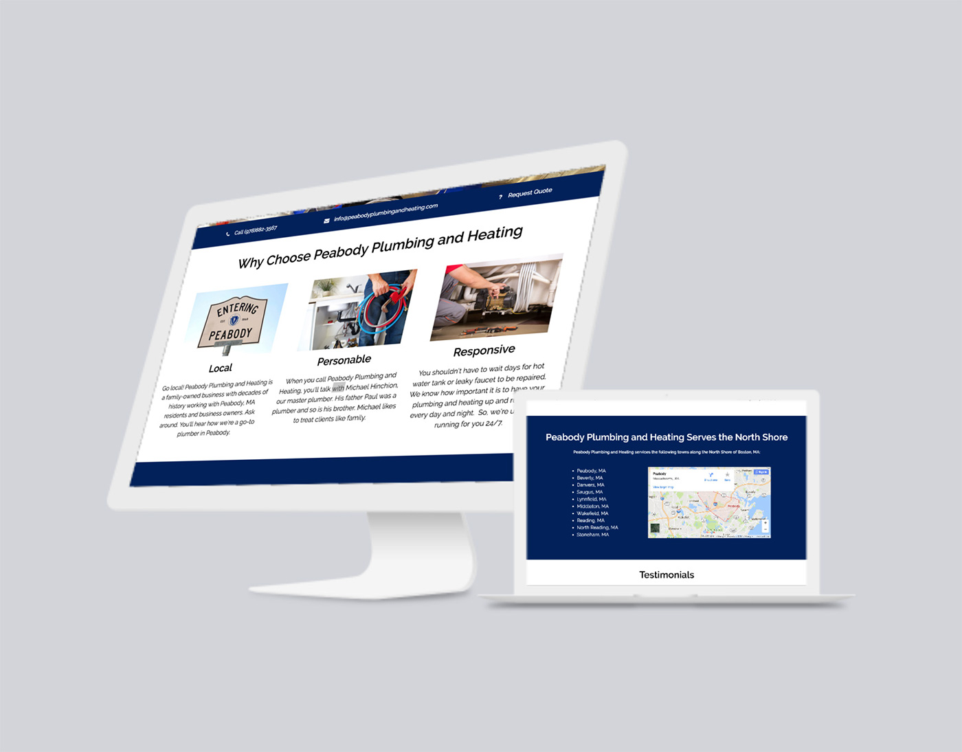 trade services Plumbing Website design development wordpress