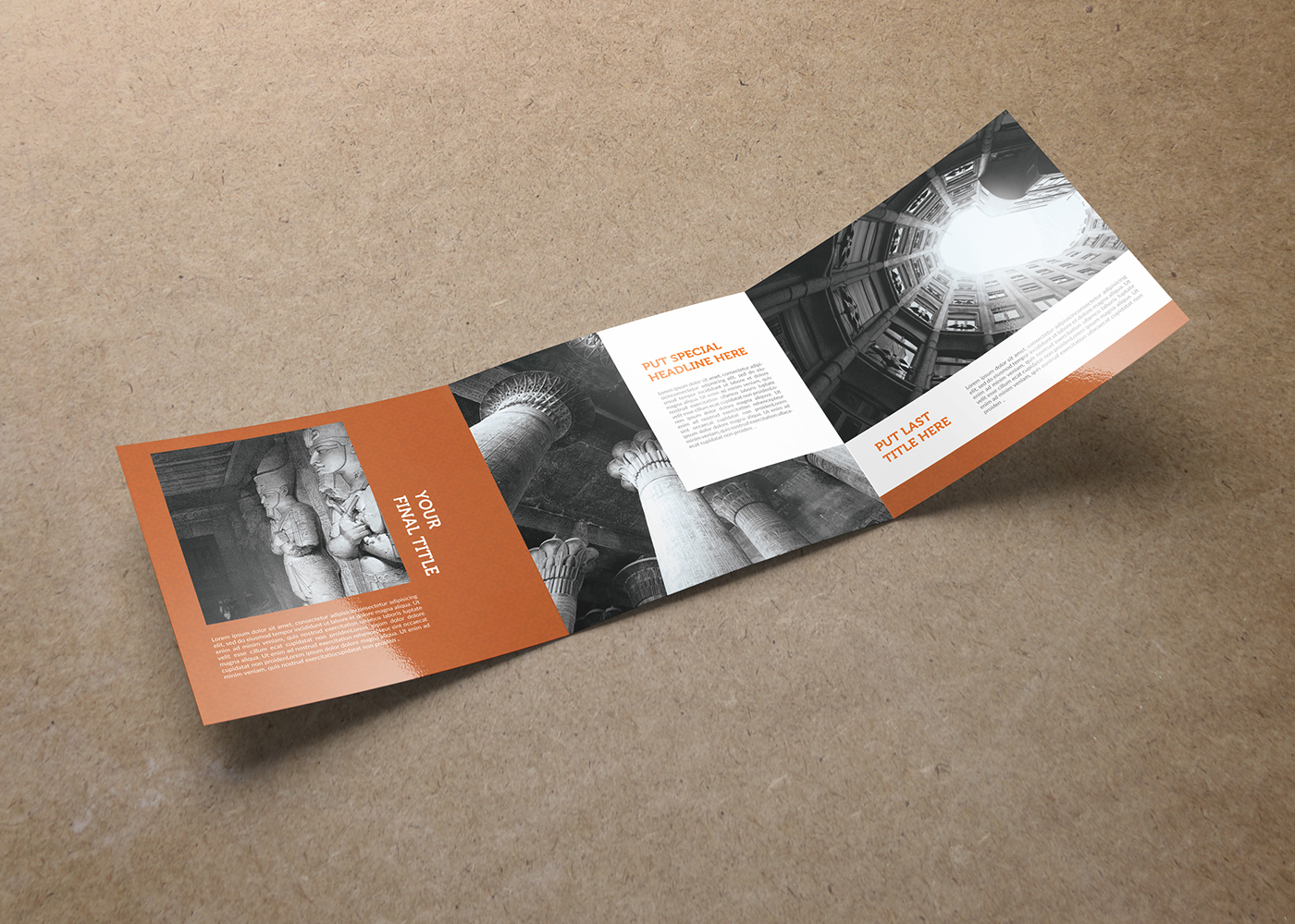 Egypt square trifold brochure template on behance for Egypt brochure templates