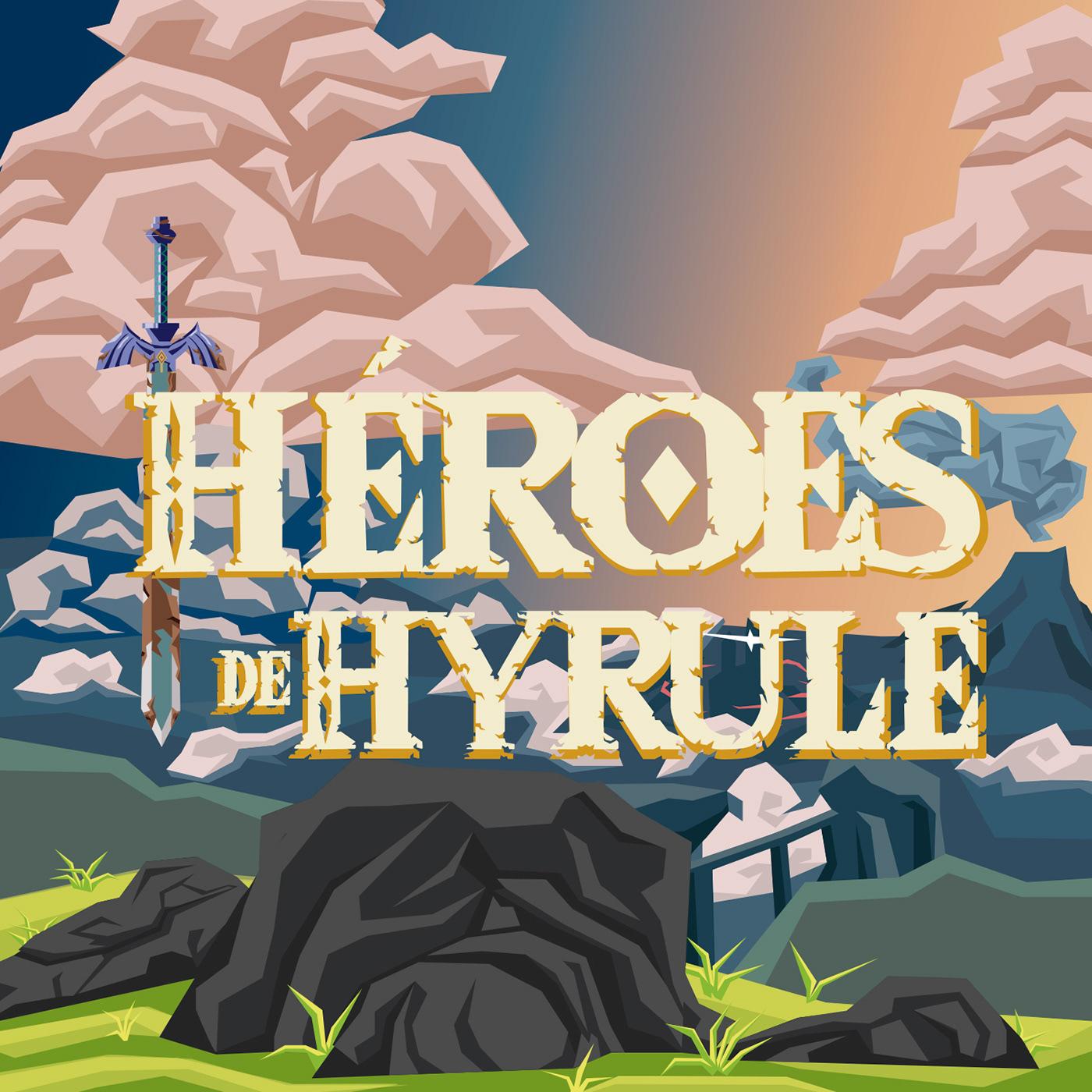 game Gamer Hyrule ILLUSTRATION  ilustracion logo podcast zelda