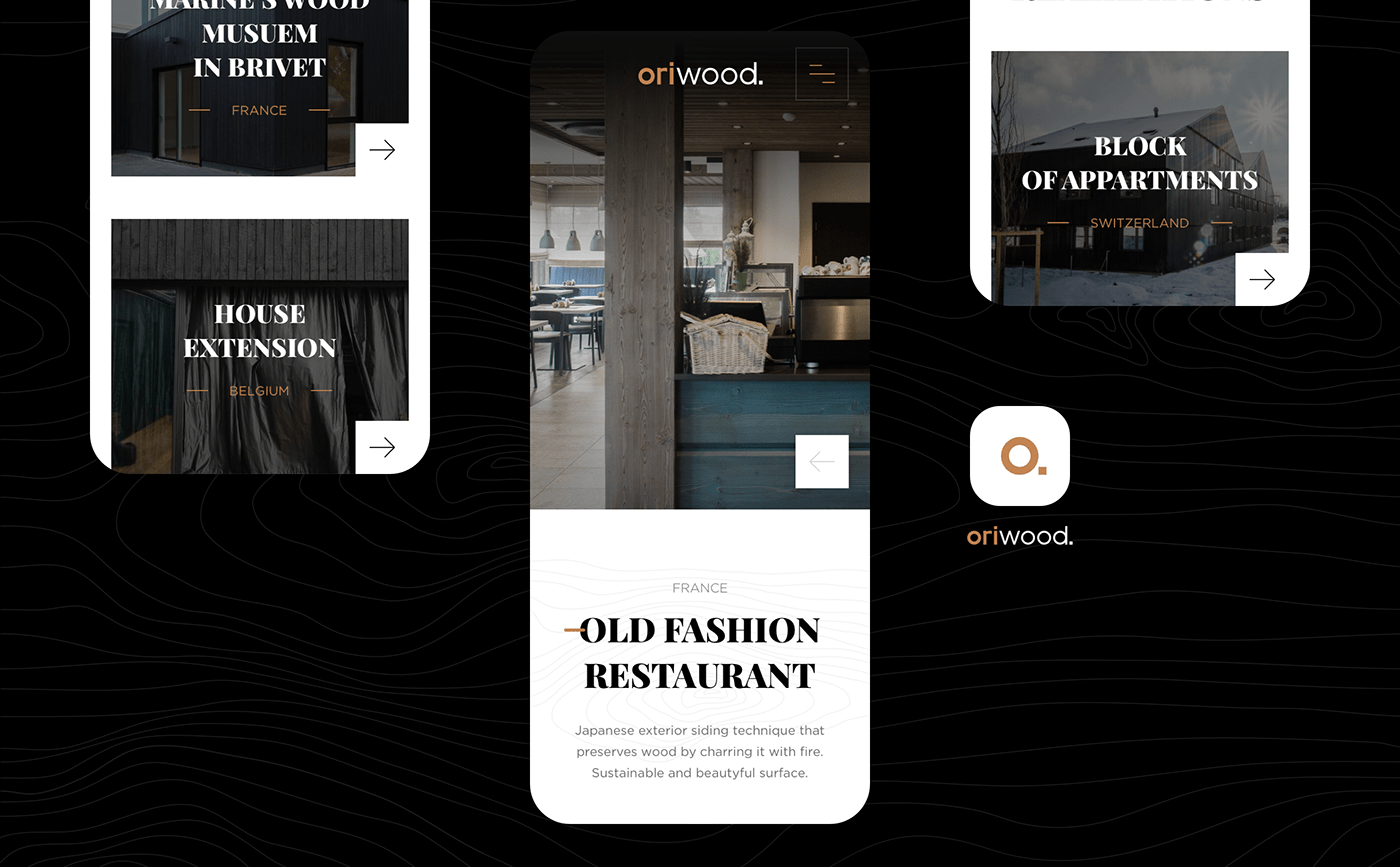 branding  catalog creative mobile presentation Product Page UI Webdesign Website wood