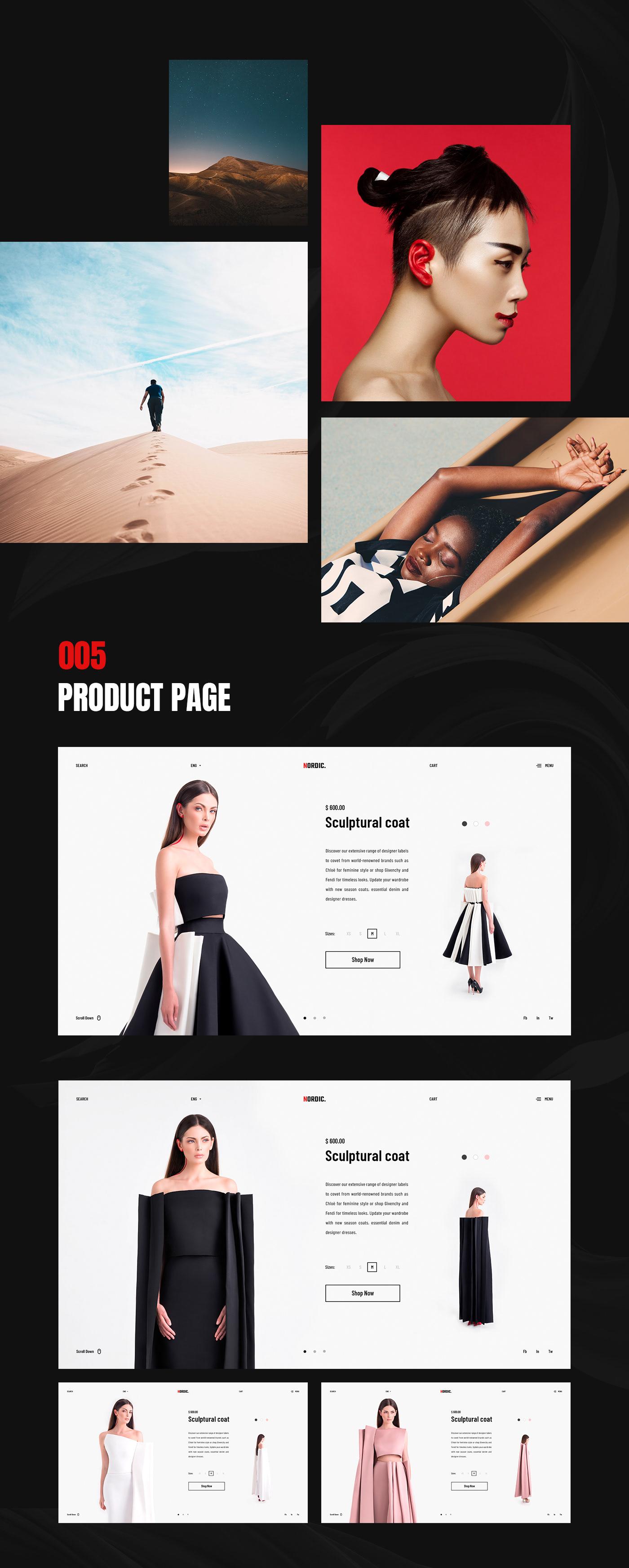 UI ux Web Design  Website Fashion  Interface Minimalism flat store nordic