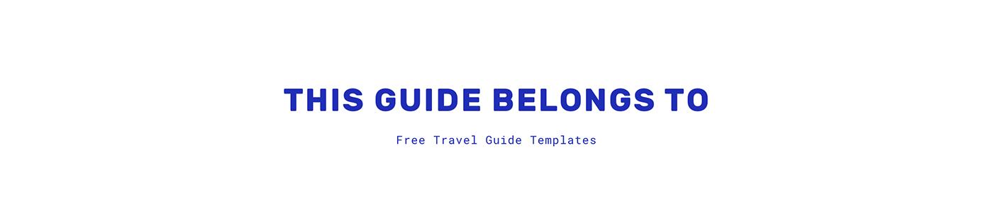 Travel Guide template free pages sketch Bangkok bali