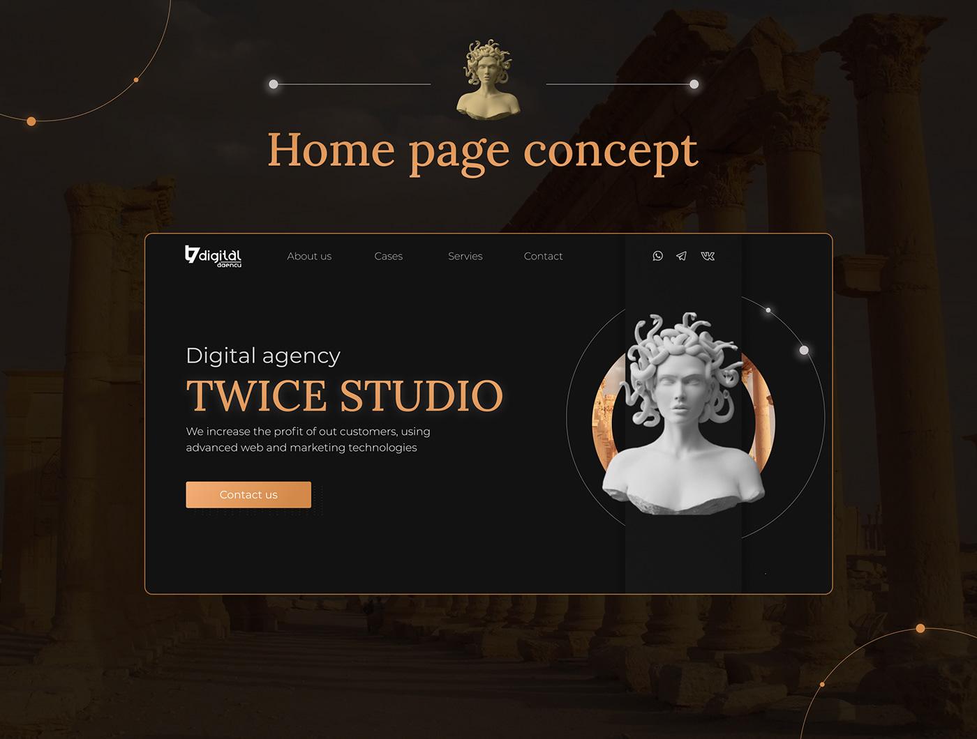 digital agancy landing-page UI/UX web-design design Web-site