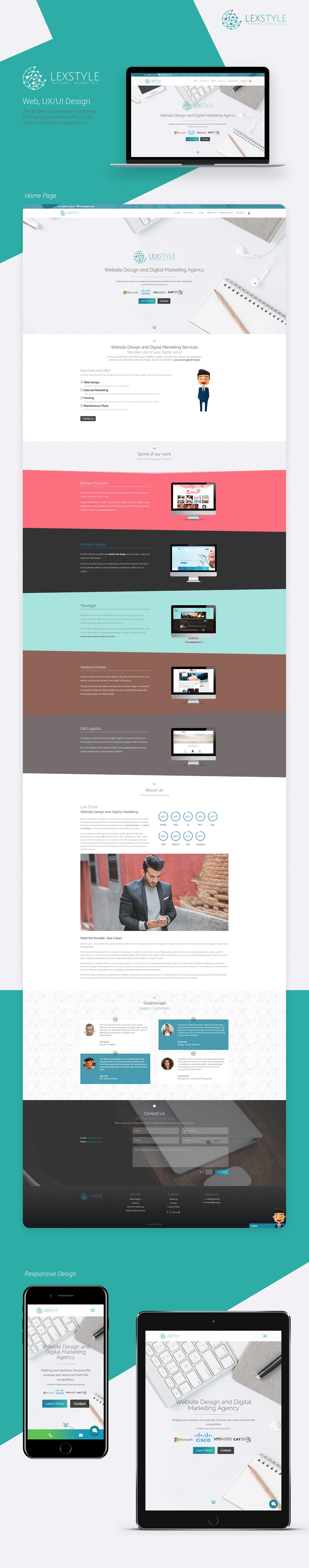 Web Design  Website Design uxdesign uidesign lexstyle Clean Design Modern Design