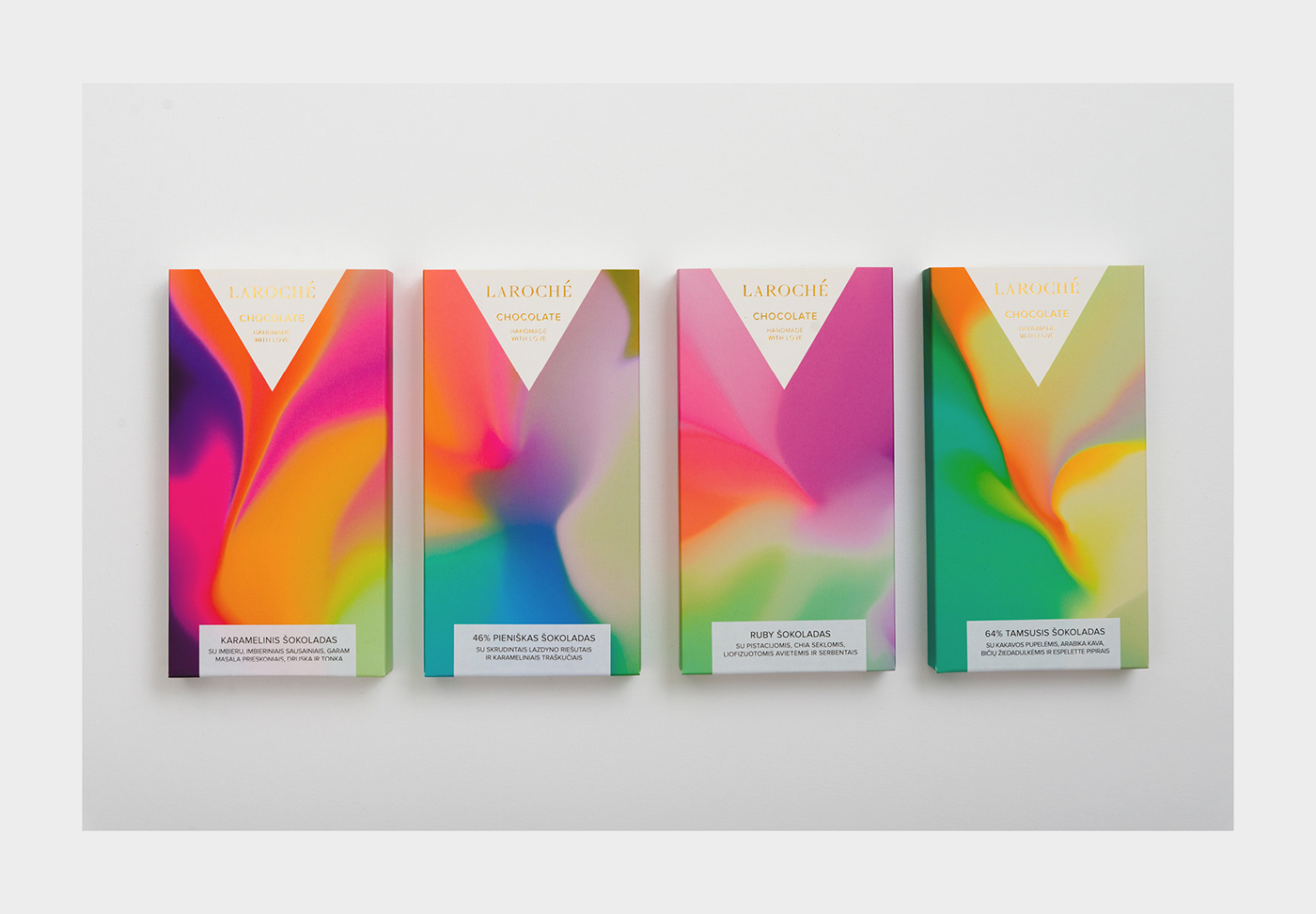 chocolate packaging design chocolate bar Candy sweet vibrant gradient colorful