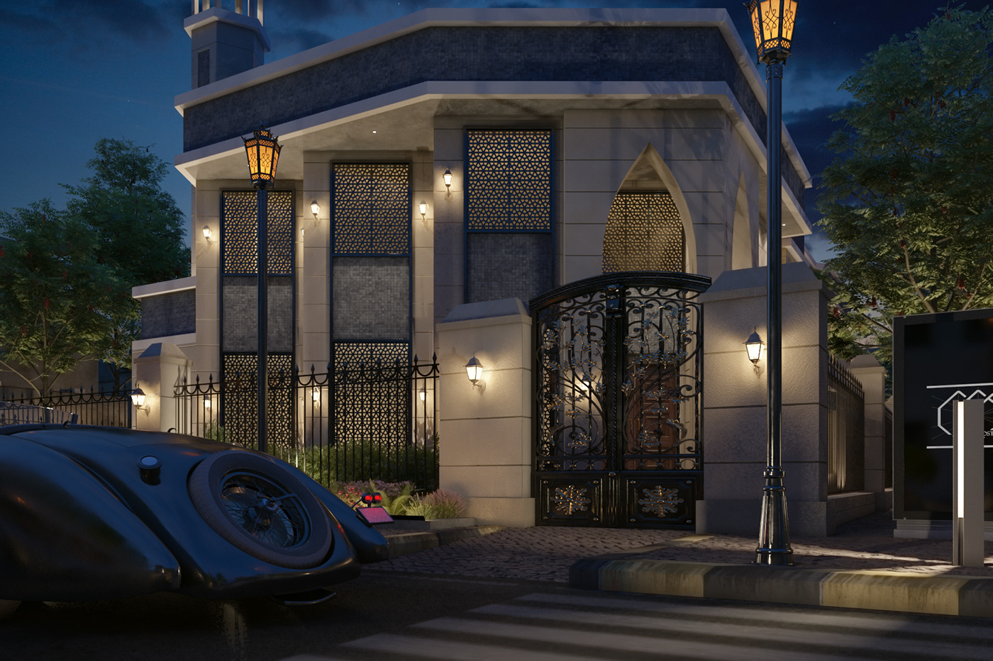 architecture design modern exterior visualization graphics 3dsmax vray Motaz mostafa