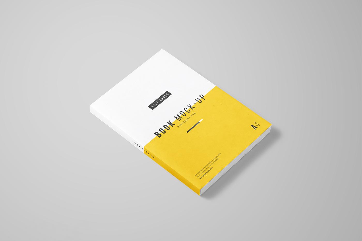 A4 Book Mockup - FREE PSD