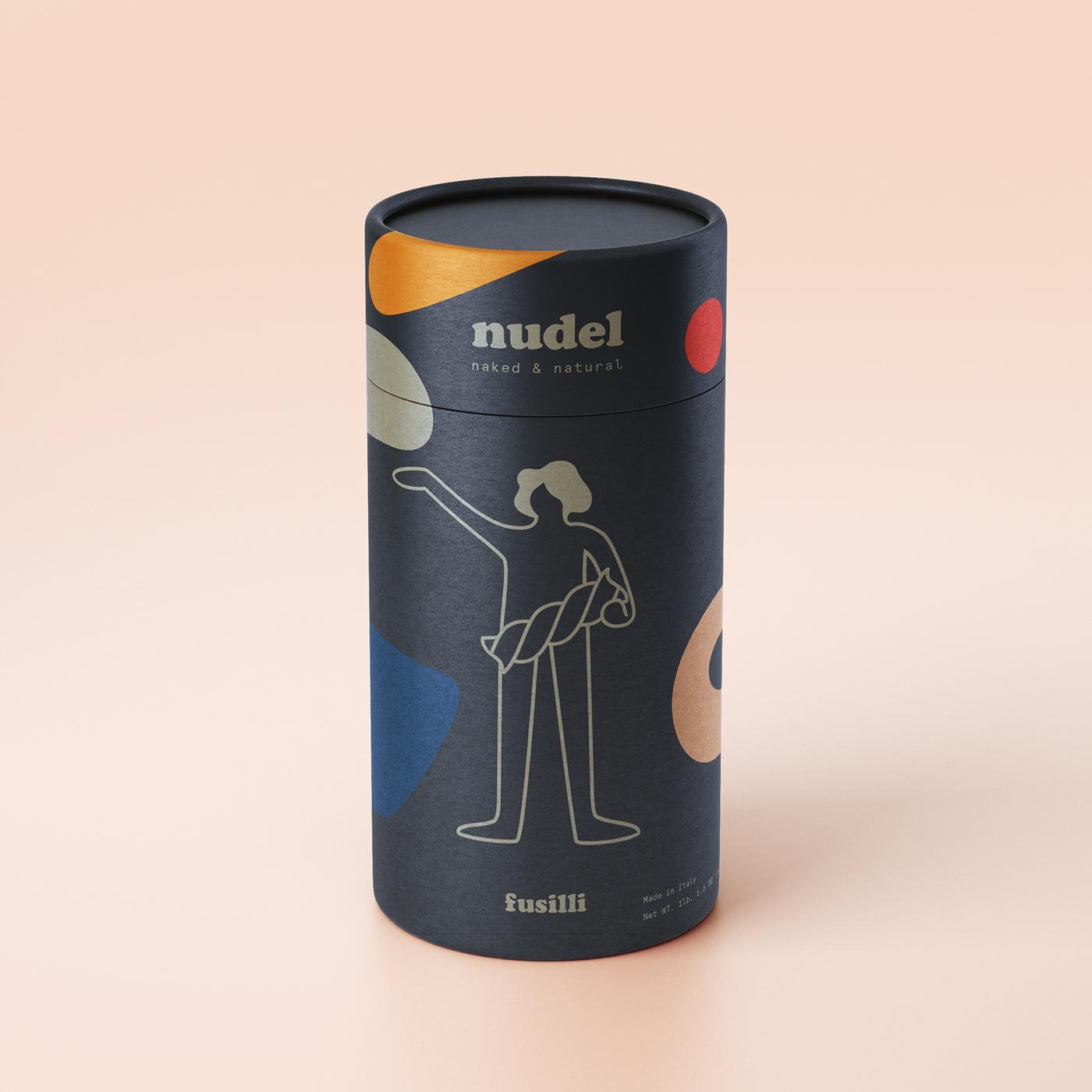nudel naked natural noodles Brand Development people spices Pasta Food Packaging adobeawards