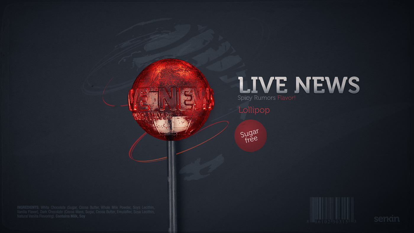 series news globe Candy lollipop