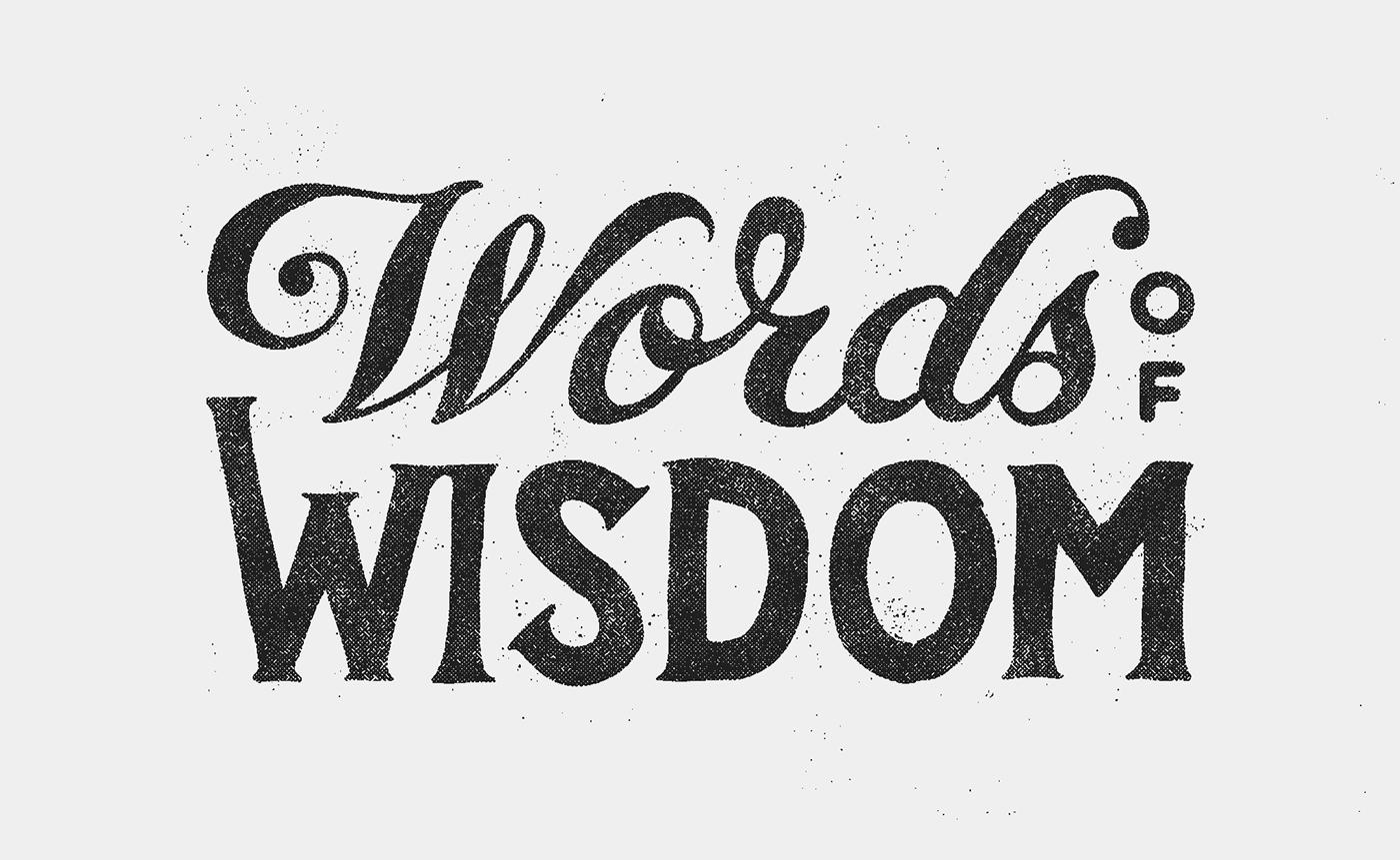 Words Of Wisdom: #wowproject On Behance