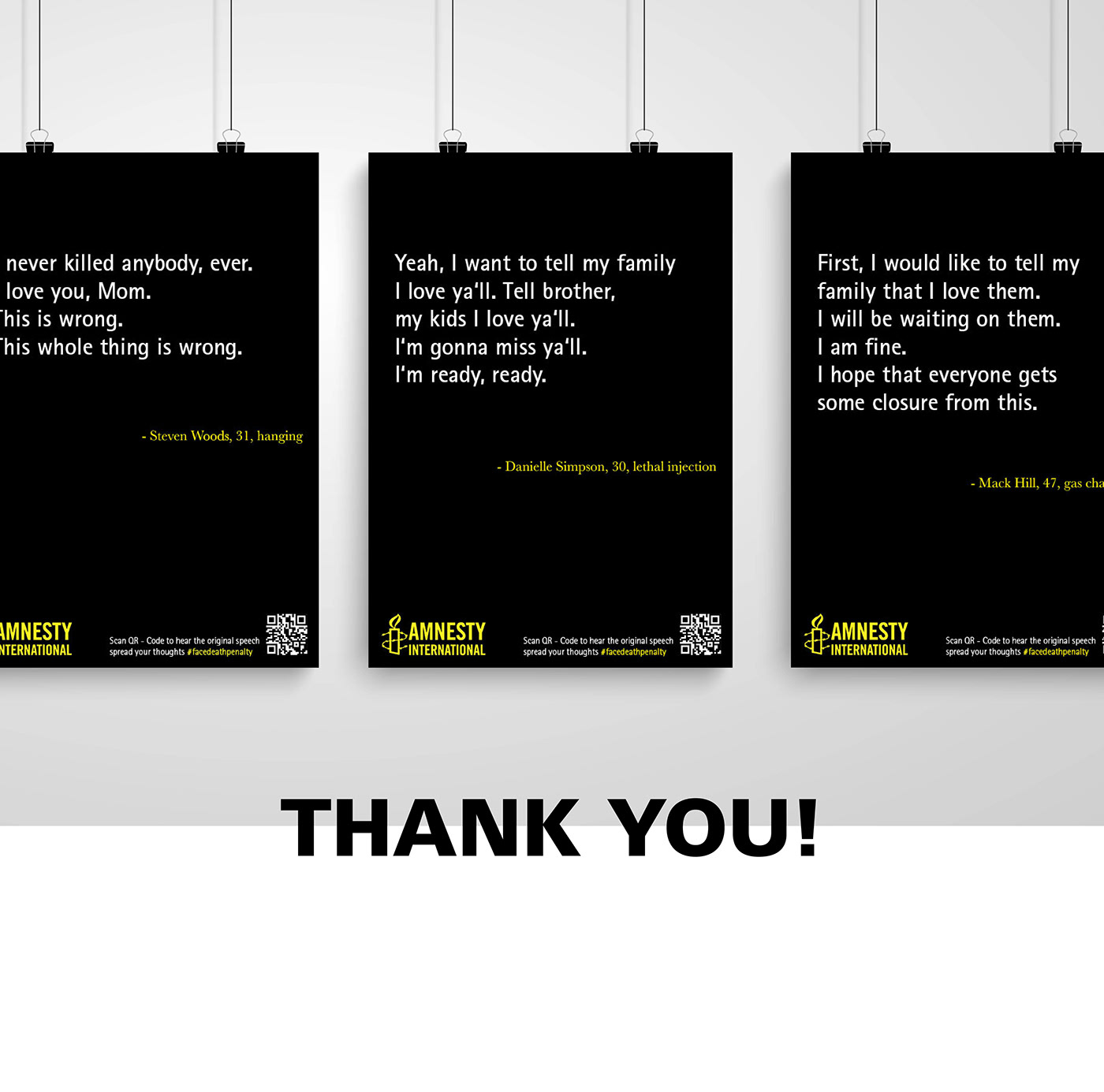 death penalty campaign amnesty International Schools Project Original Quotes