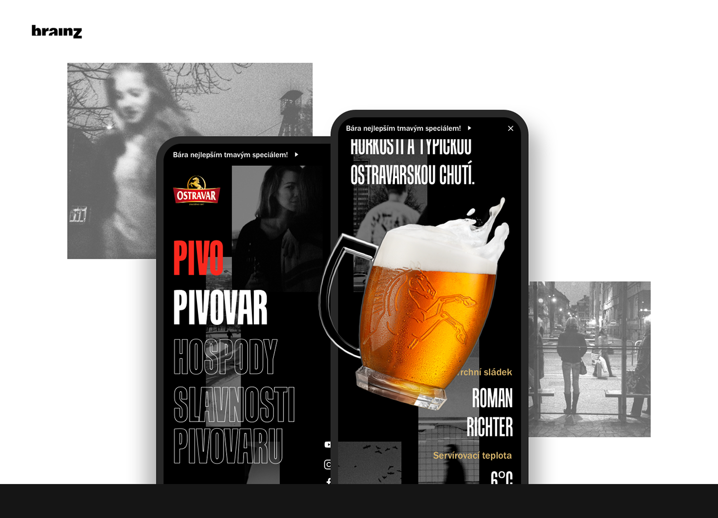 Webdesign UI beer Czech Ostrava Web typography   Photography  product mobile
