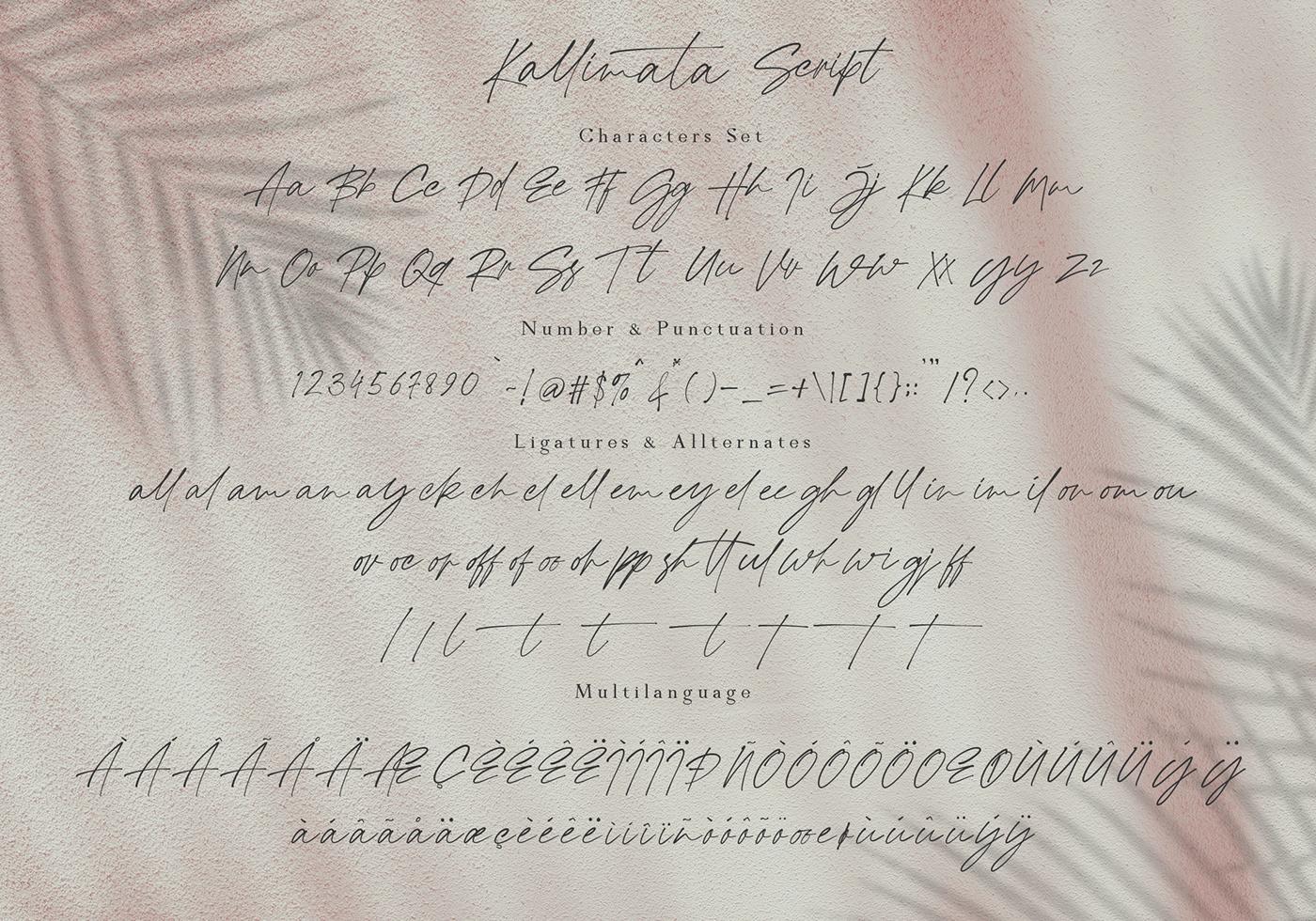 Шрифт – Modern Kallimata