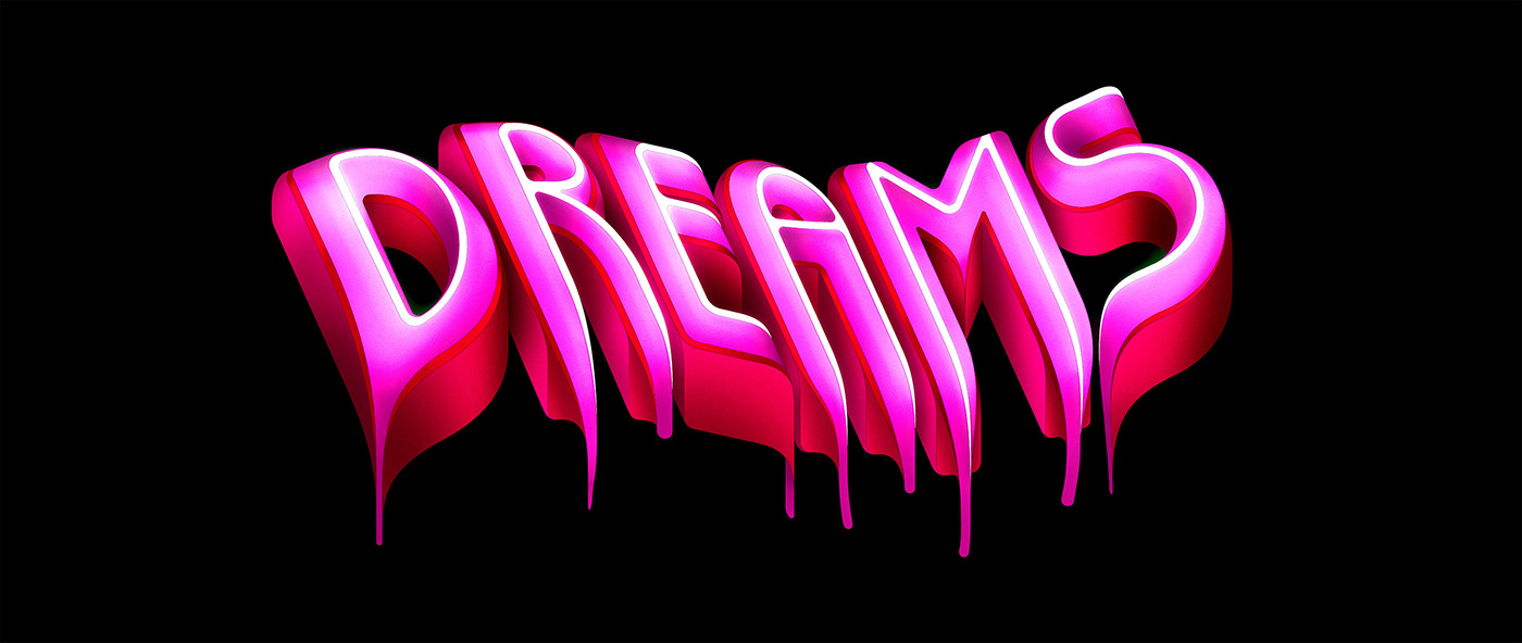 3D lettering 3D Type ADVERTITING TYPE ILLUSTRATION  type vector type
