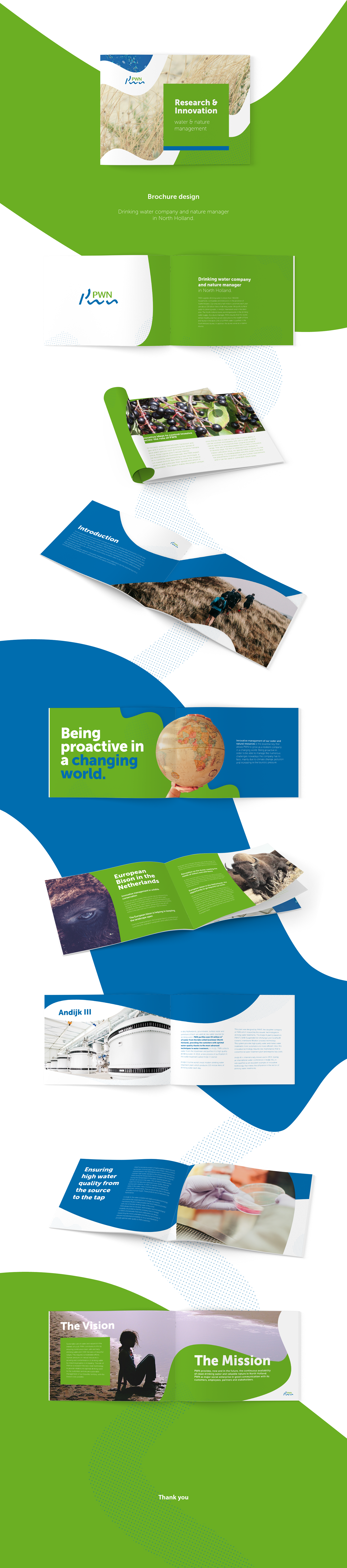 brochure water Nature design Landscape a4