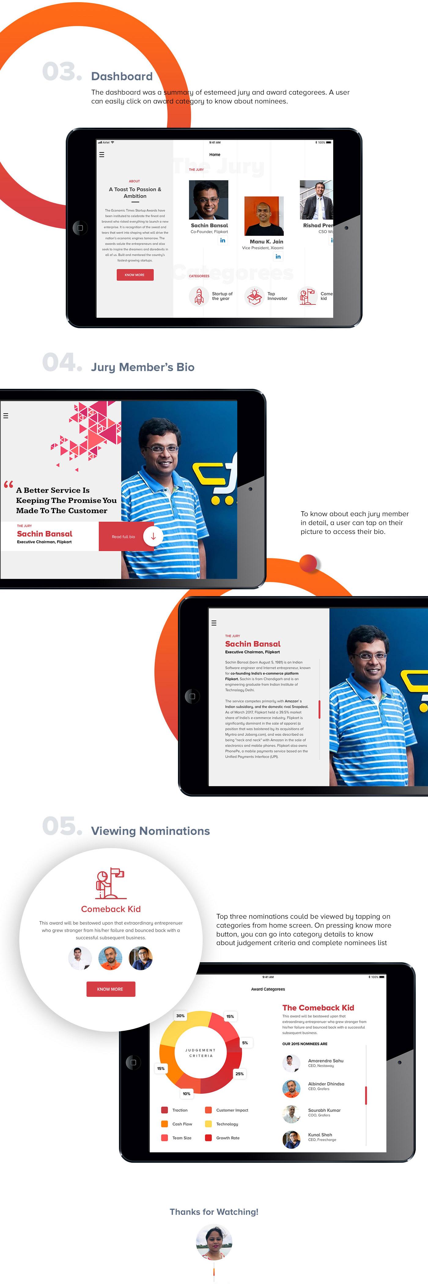 iPad App Awards App UI ux mobile app design ui design Ipad app design