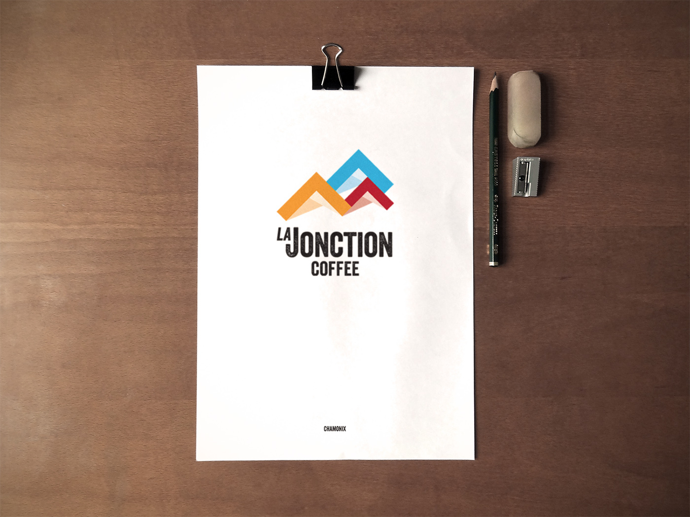 logo,Coffee,shop,france,mountains,simple,yellow,blue,red,chamonix