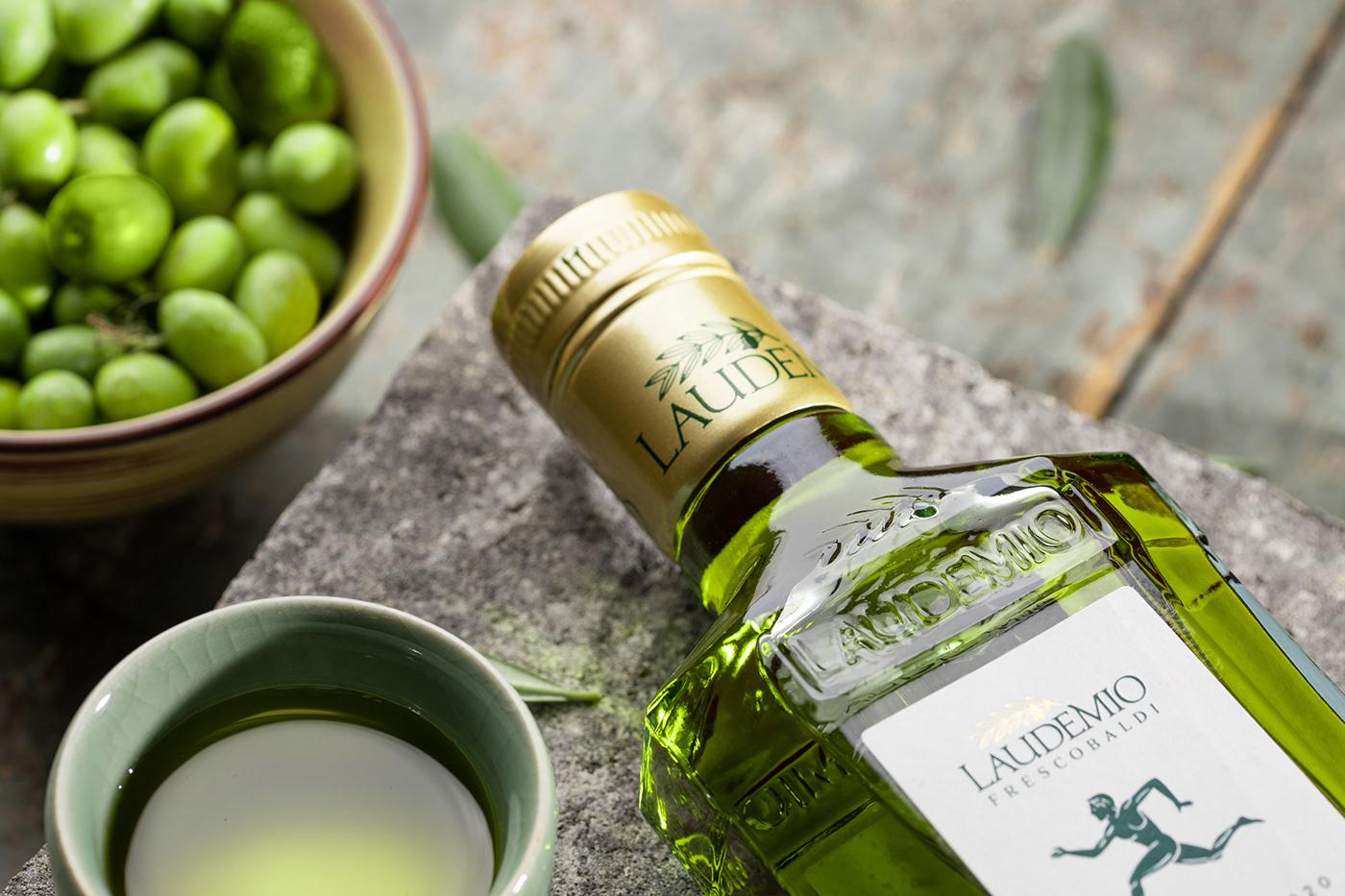 bottle dark Evo Food  green italian oil set Still still life