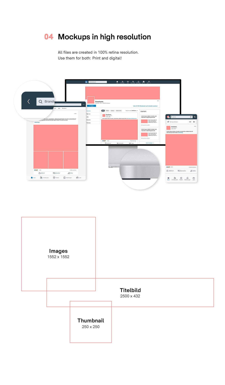device freebie Linkedin Layout Minimalism Mockup photoshop Spektrum44