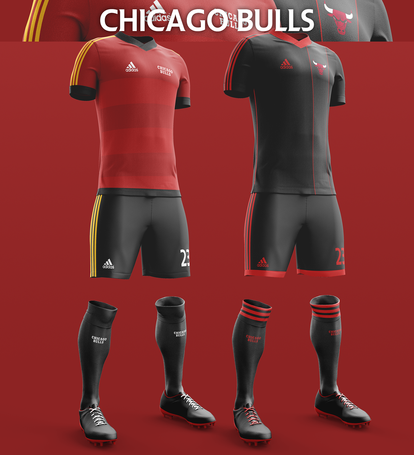 Talisman & Co. | Chicago Bulls Soccer Concept Kit