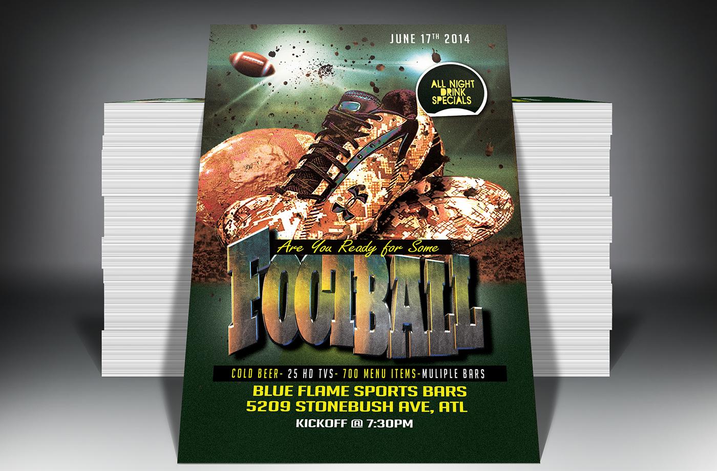 football season flyer template  free download  on behance