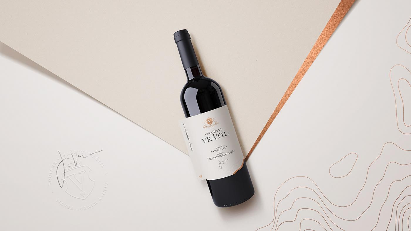 wine vineyard coat of arms heraldic logo Label etiquette bottle luxury package