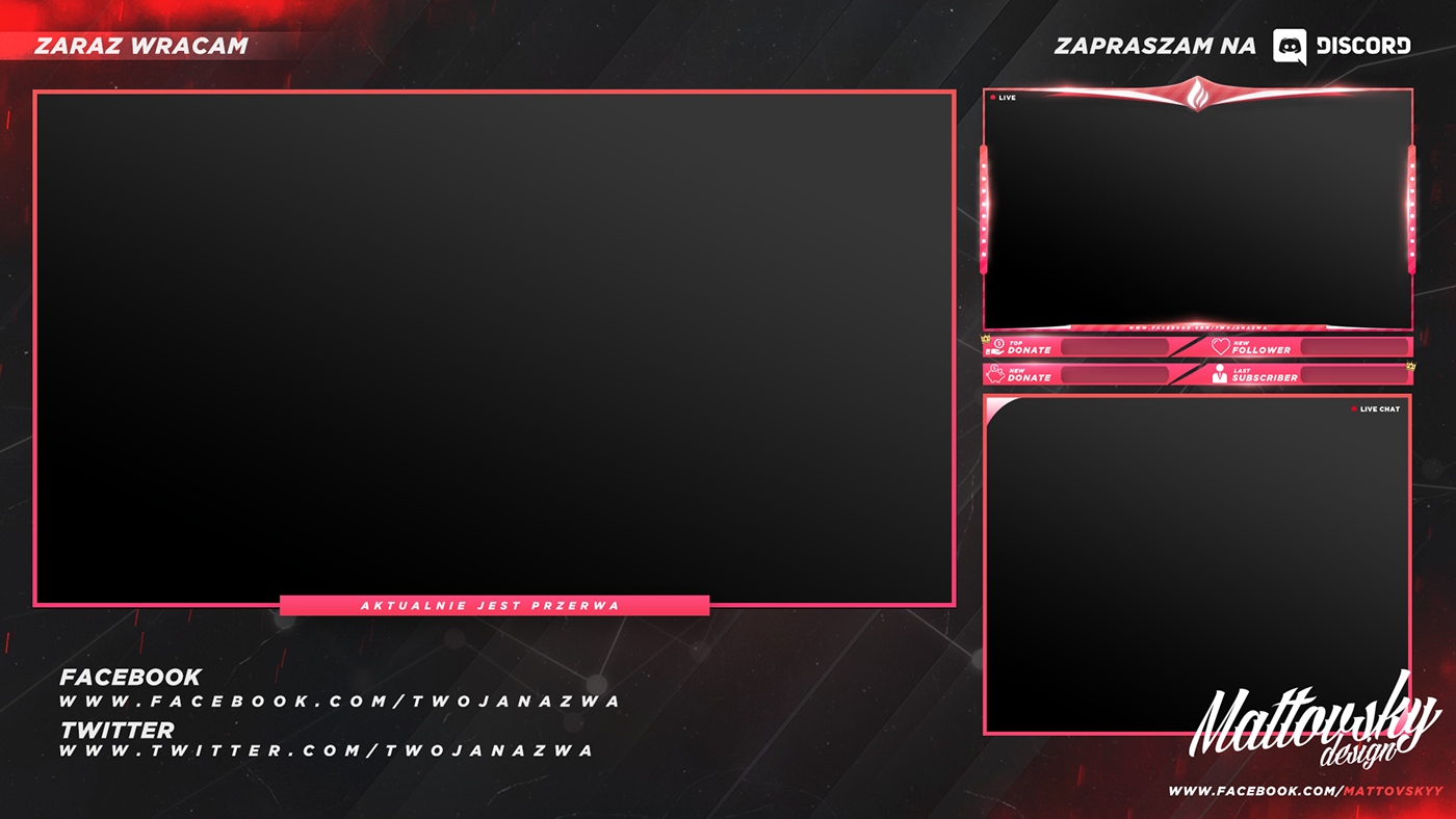 Overlay Template | Free Twitch Stream Overlay Template 2018 On Behance