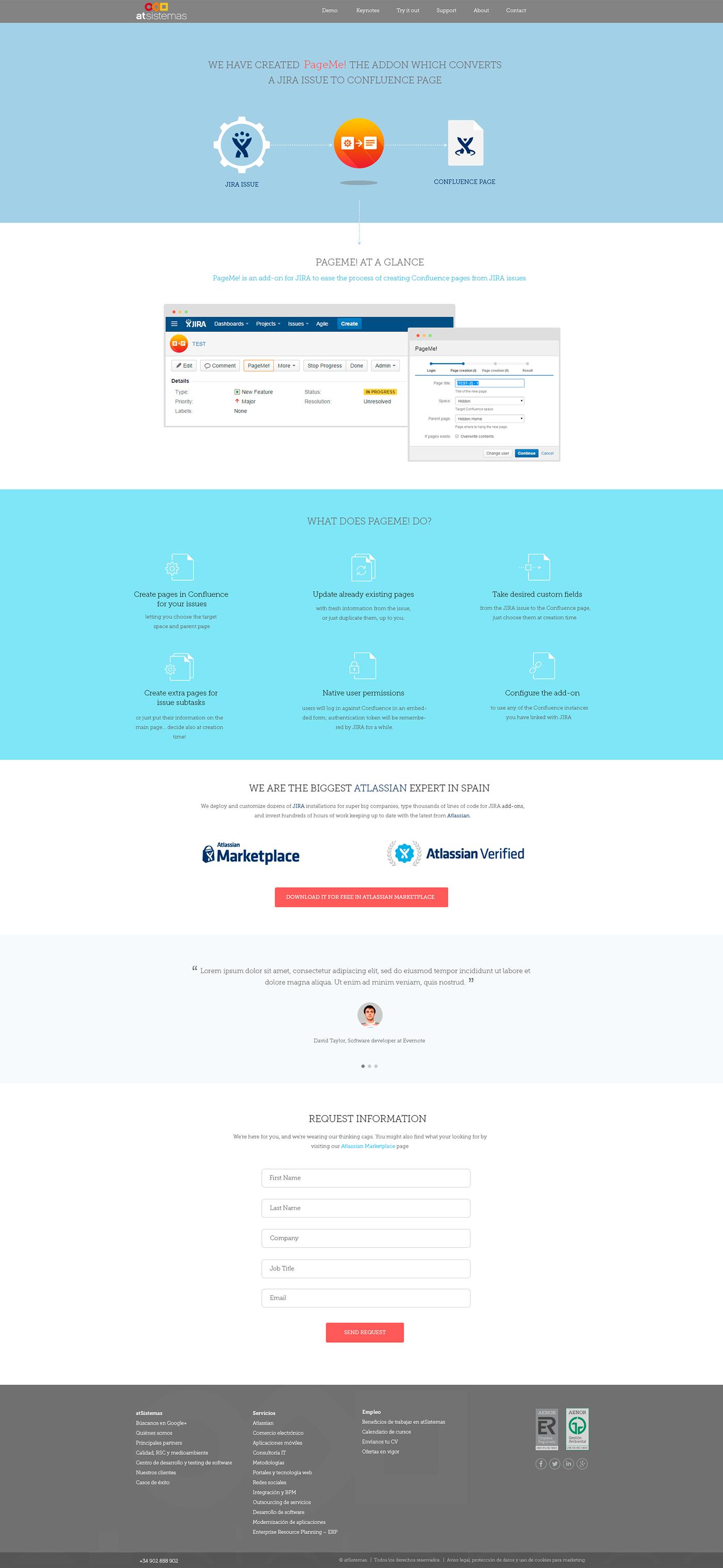 Visual UI Design Landing Page Mockup