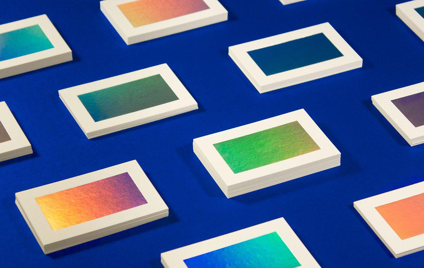 gradient holographic foil debossing Business Cards paper billboard paper