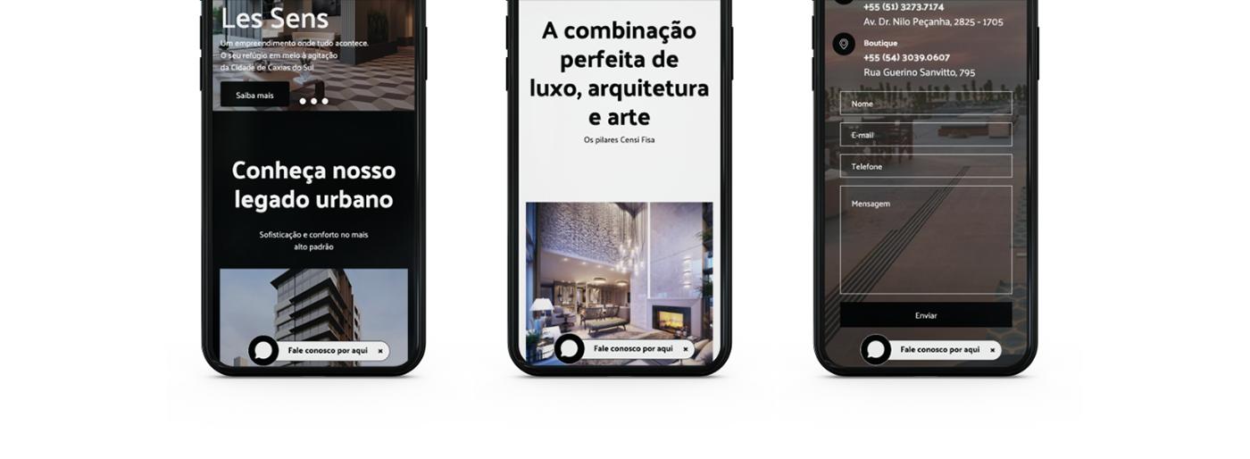 site Webdesign design gráfico censifisa construtora Empreendimento Interface inspiração referência experiência do usuário