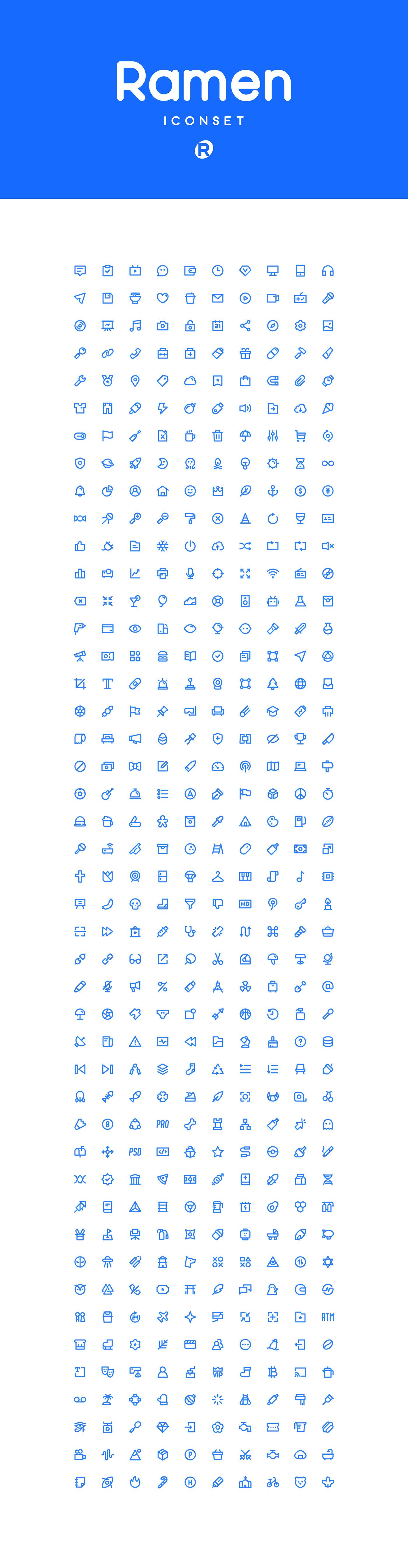 Icon iconset icons line icons Linear Icons