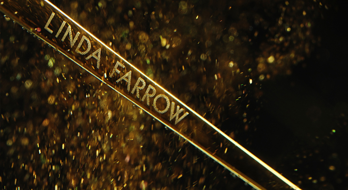 Sunglasses linda farrow luxury paint ink gold forevergold ruslankhasanov 4K
