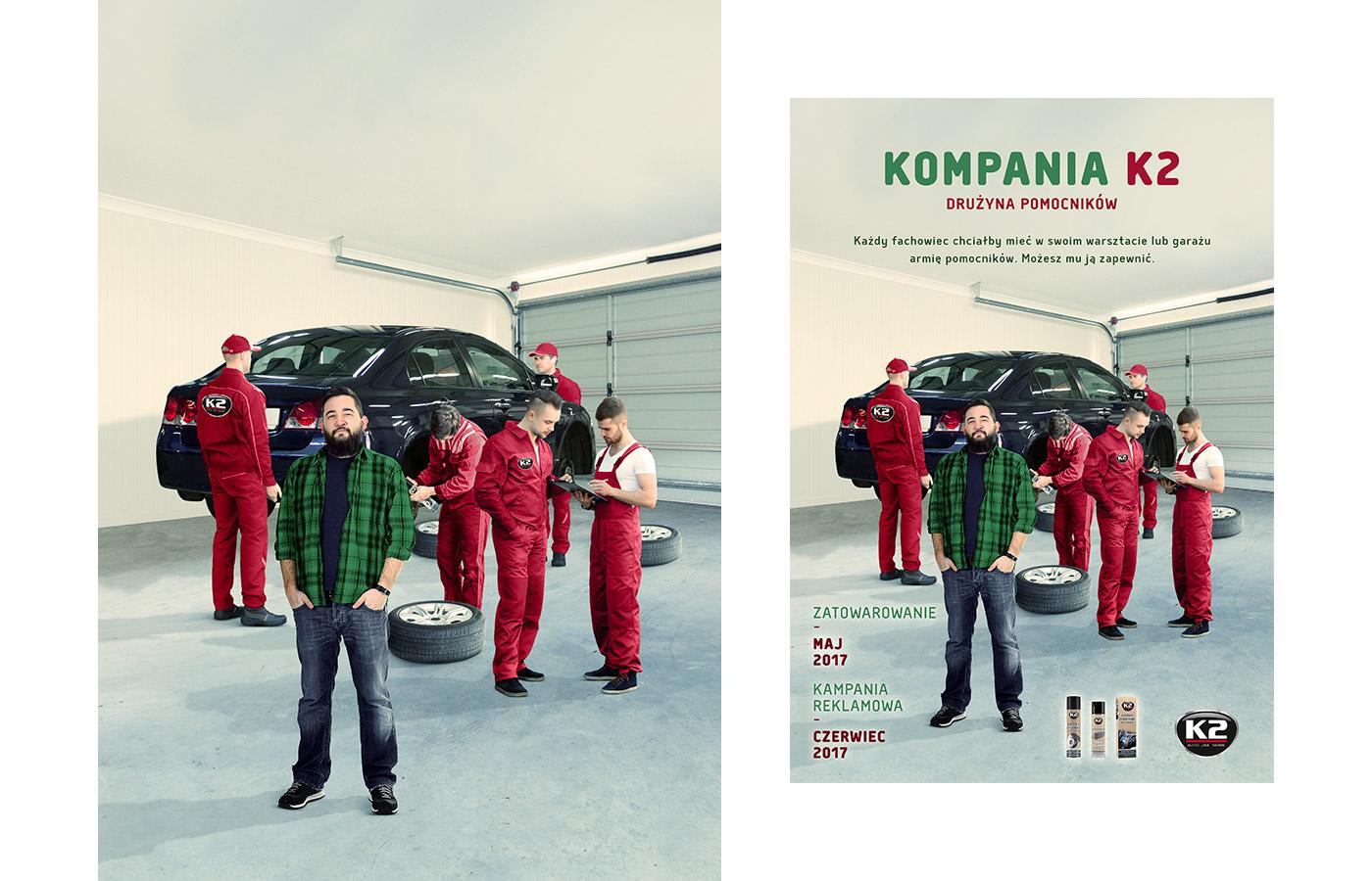 car K2 samochód fotomanipulacja photomanipulation concept cosmetics gold garage Mechanic
