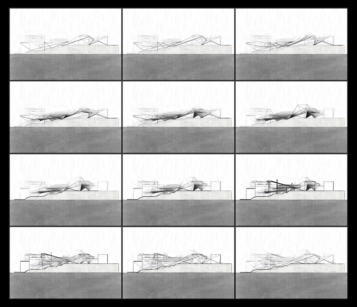 Architectural Drawing concept animation