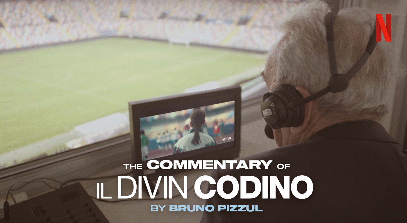 Bruno Pizzul commentary football Il Divin Codino Netflix podcast roberto baggio soccer spotify telecronaca The Divine Ponytail