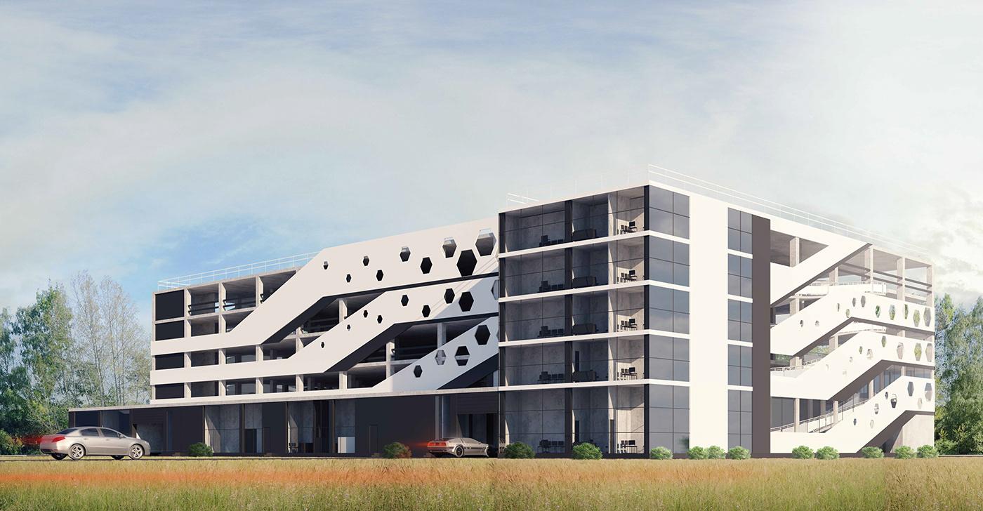 architecture exterior visualisation