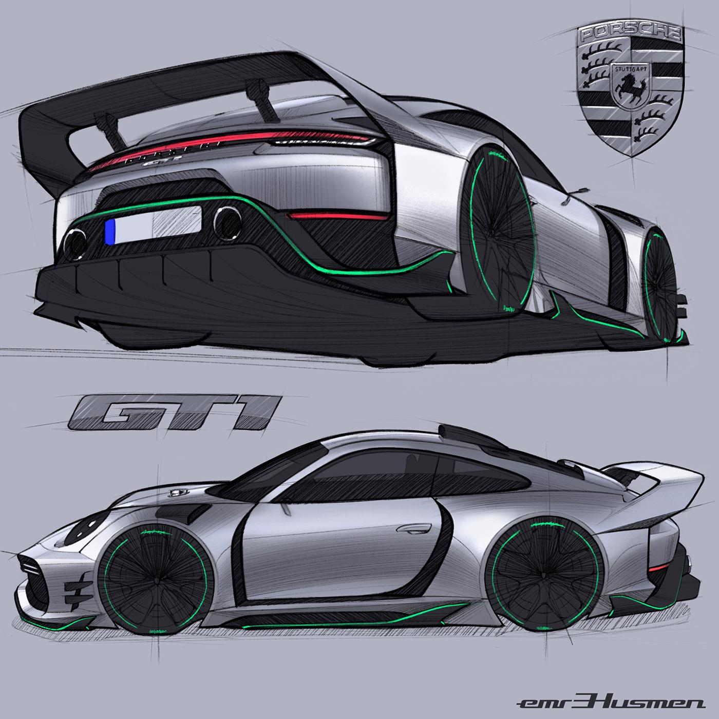 Porsche 911 GT1 Concept On Behance