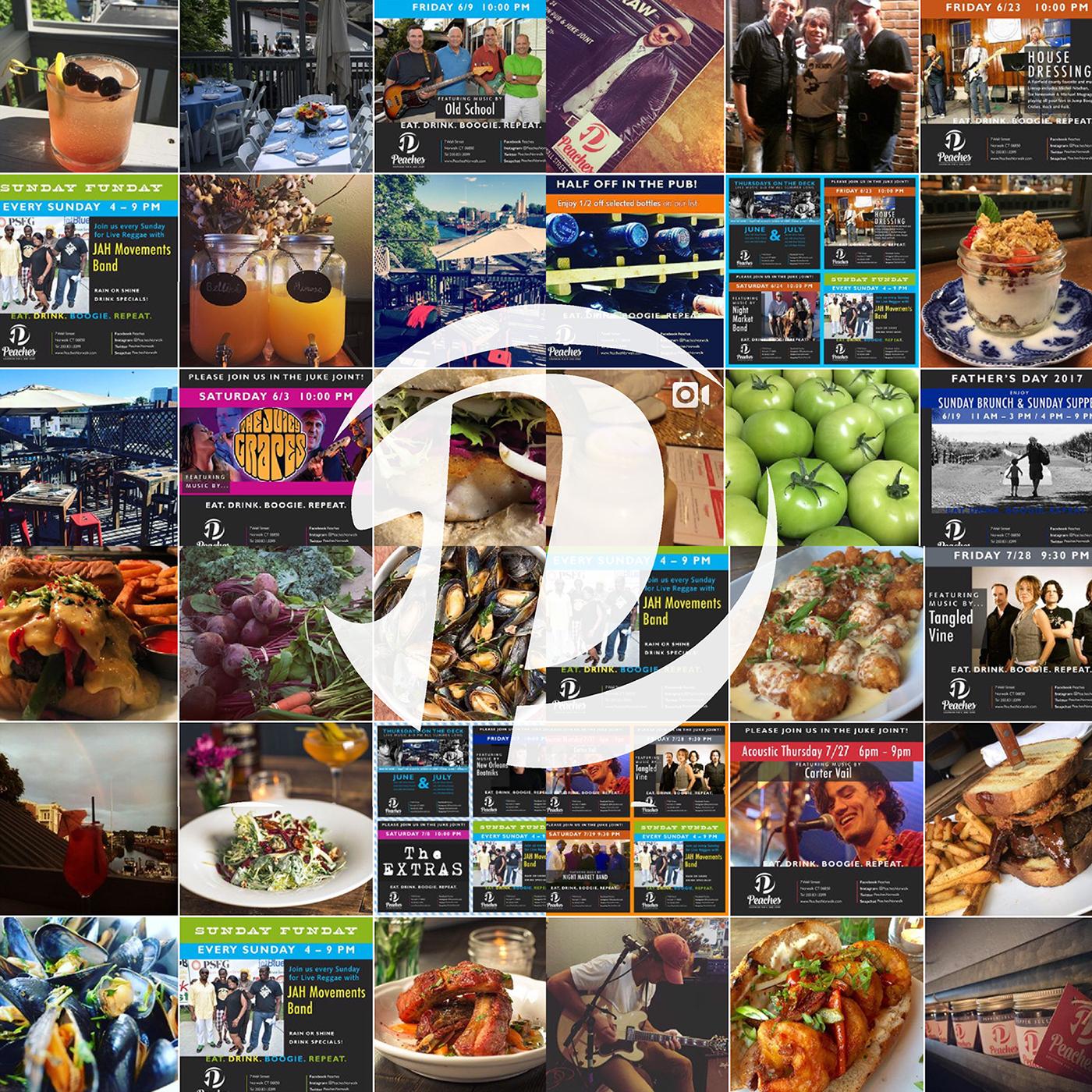 branding  social media graphic design  southern pub JUKE JOINT live music brand identity design Restaurant Branding