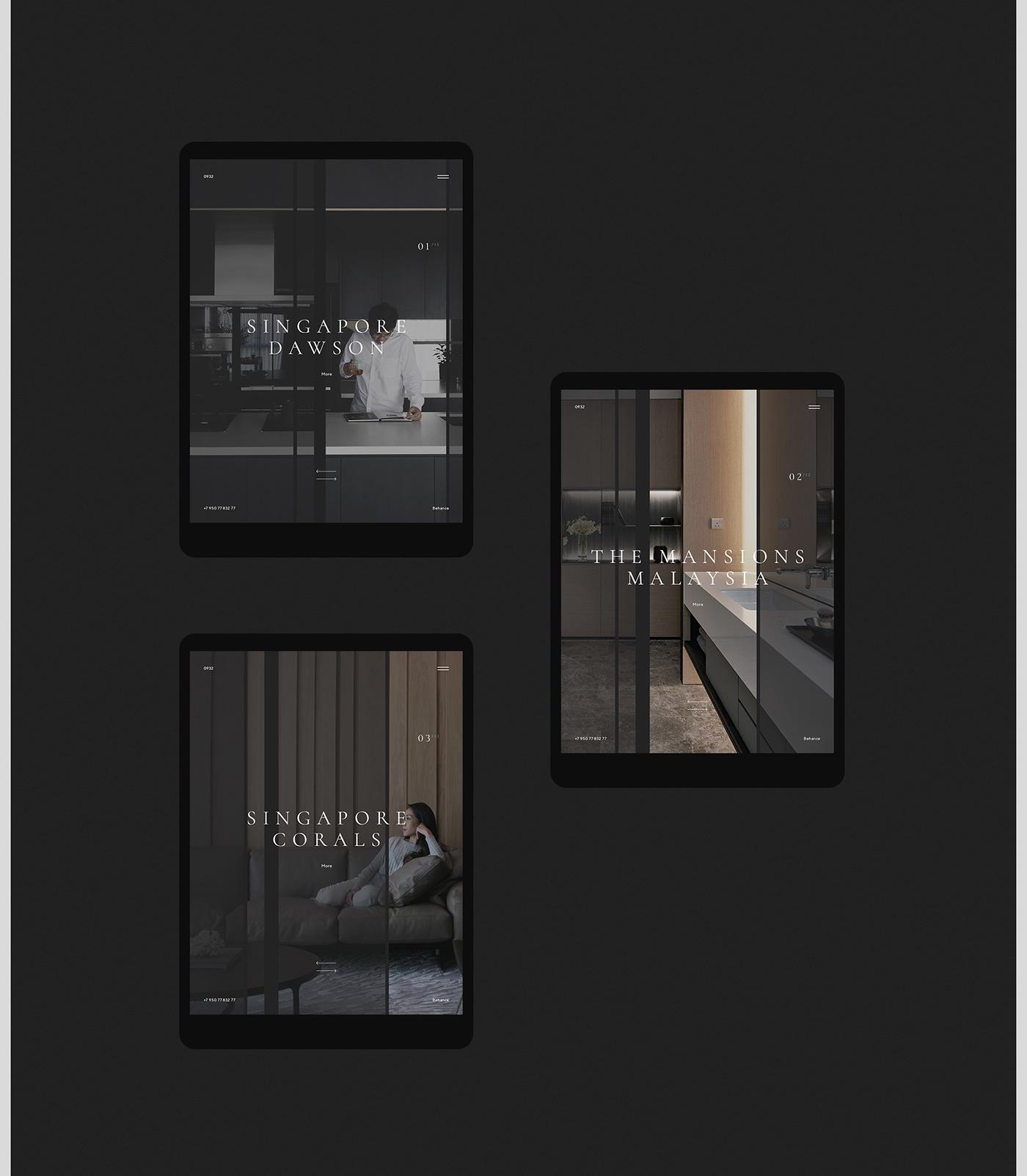 Webdesign UI ux design Interior typography   animation  concept VRN mobile