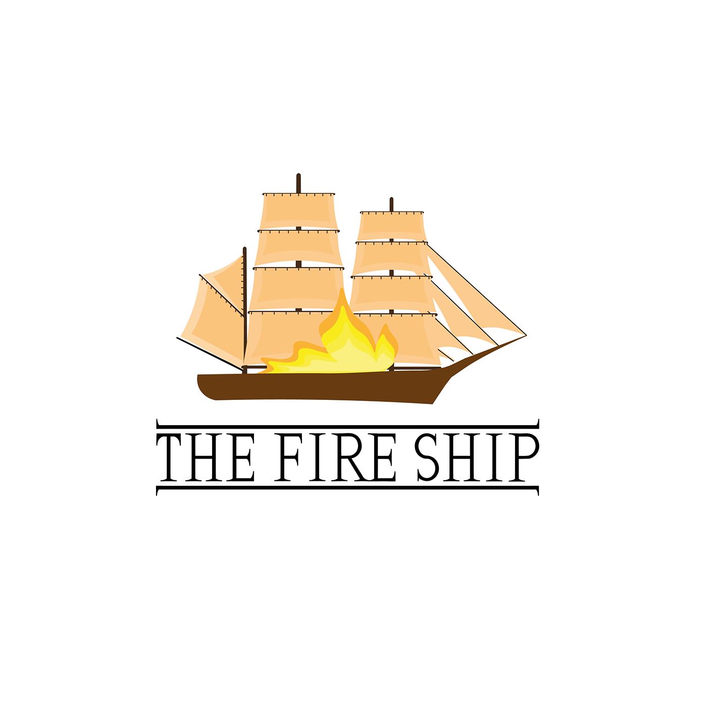 FIRE SHIP fire ship logo logo Logo Art logo designer logo ship Logo showcase logo uk logos Ship Logo